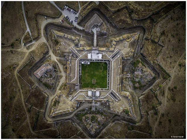 Foto aérea del Fuerte de la Concepción (Aldea del Obispo)