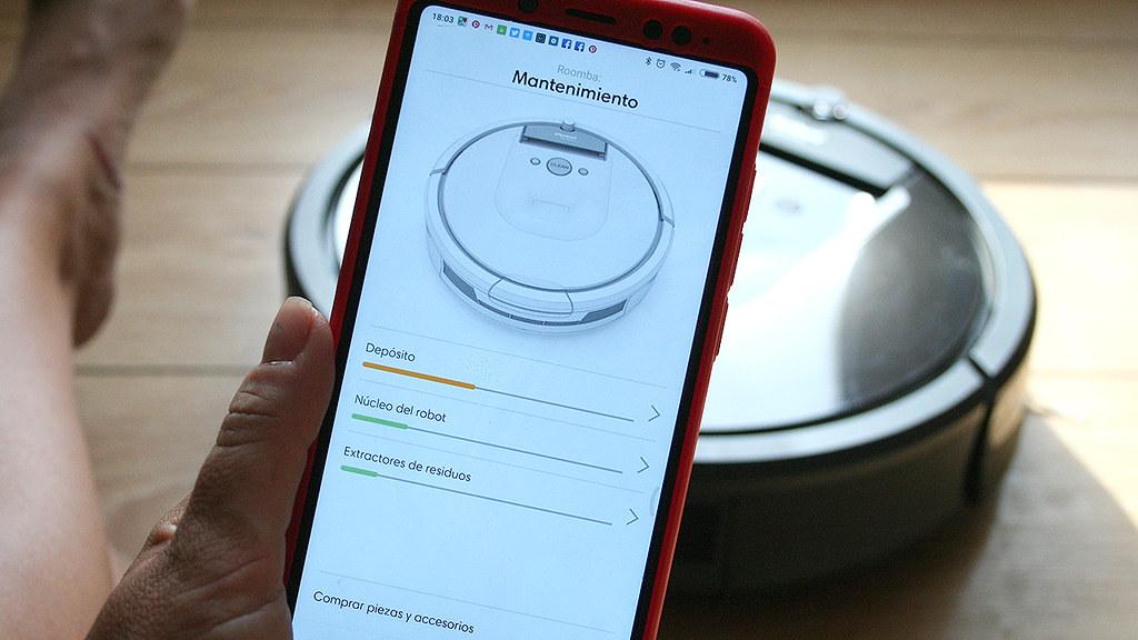 mantenimiento Roomba a través de la App