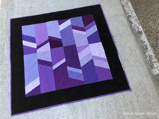 Pantone Ultra Violet All About Angles Sarah Goer Quilts