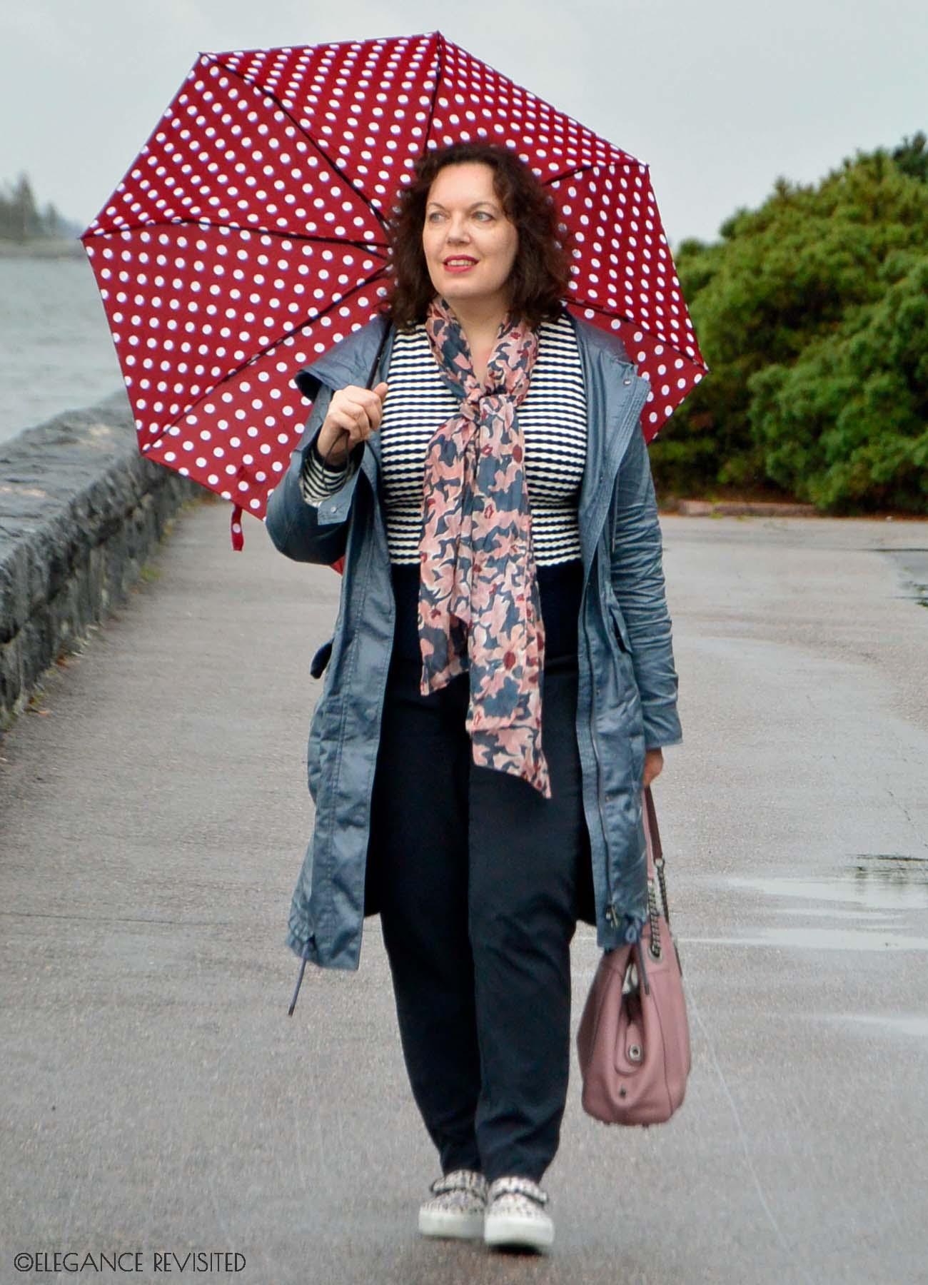 casual rain wear over 40