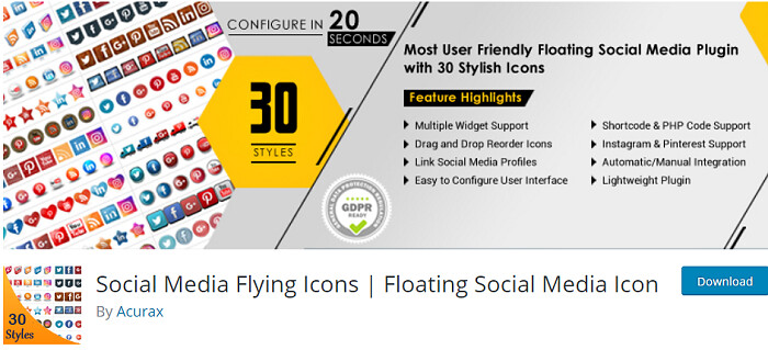 social media widget wordpress