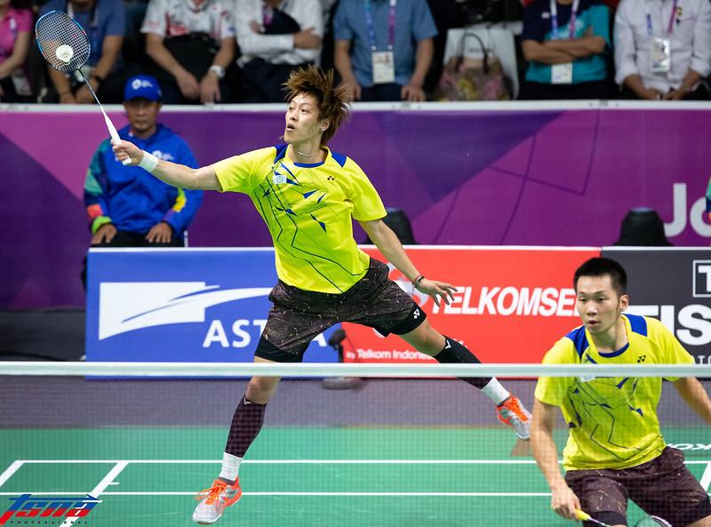 台灣男雙組合李哲輝(左)/李洋在日本羽球公開賽順利晉級。(資料照,特約攝影侯禕縉/攝)