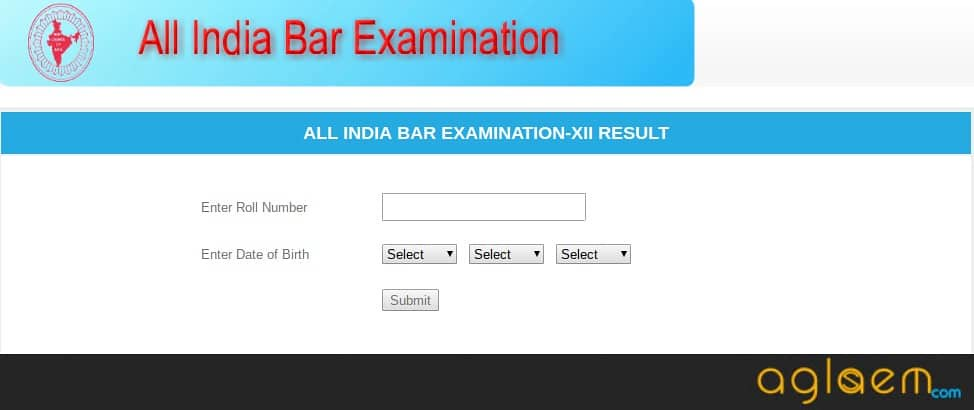 AIBE Result 2018 Announced by BCI for AIBE XII at allindiabarexamination.com