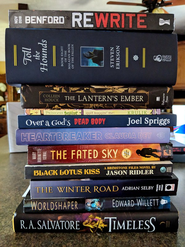 New Books and ARCs, 8/31/18 – Whatever