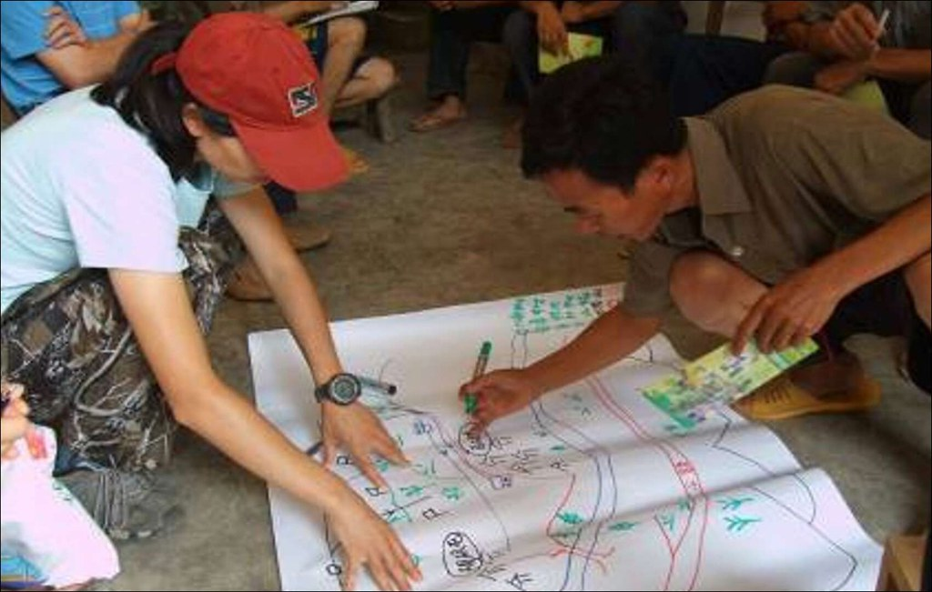 操作中歐生物多樣性項目廣西示範項目,村民勾勒生態家園