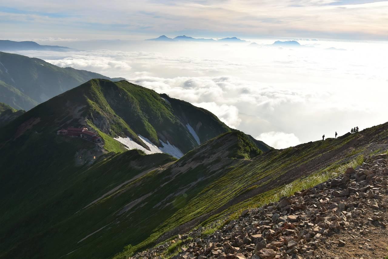 五竜山荘と雲海