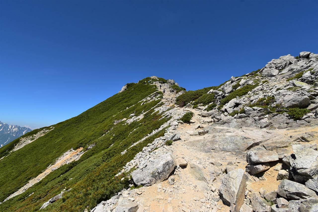 唐松岳山頂までの登り