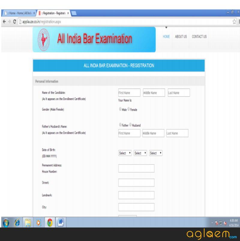 AIBE 2019 Application Form  %Post Title | AglaSem