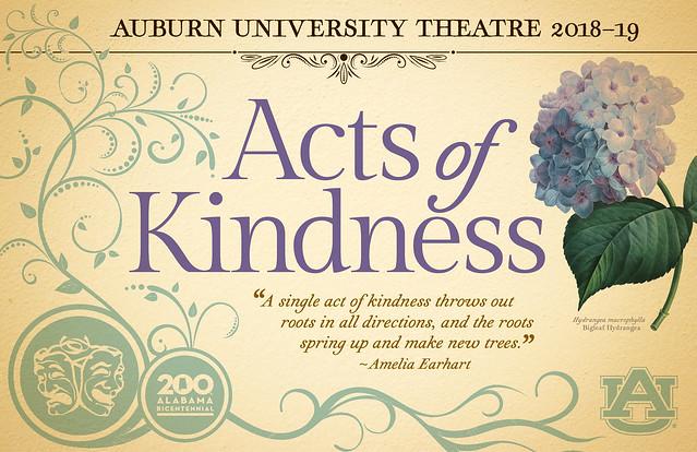 Auburn University Theatre 2018-19 Acts of Kindness