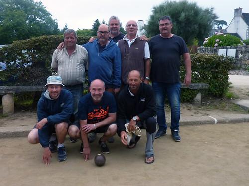 19/08/2018 - Saint Jean du Doigt : Concours de boules plombées en quadrette formée