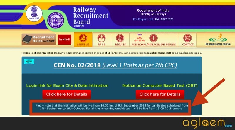 Not all candidates can check RRB Group D (CEN 02/2018) exam date today; 13 September next date for rest of the candidates