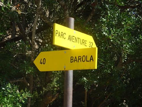Panneaux au pont de Marionu sur le PR4/PR3
