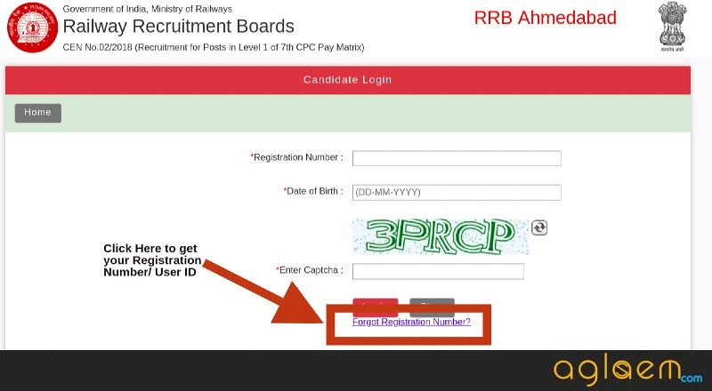 RRB Group D Login