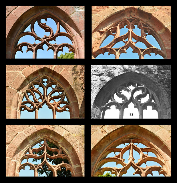 Kloster Hirsau bei Calw: Maßwerkfenster / Definition Maßwerk ... Foto: Brigitte Stolle 2018