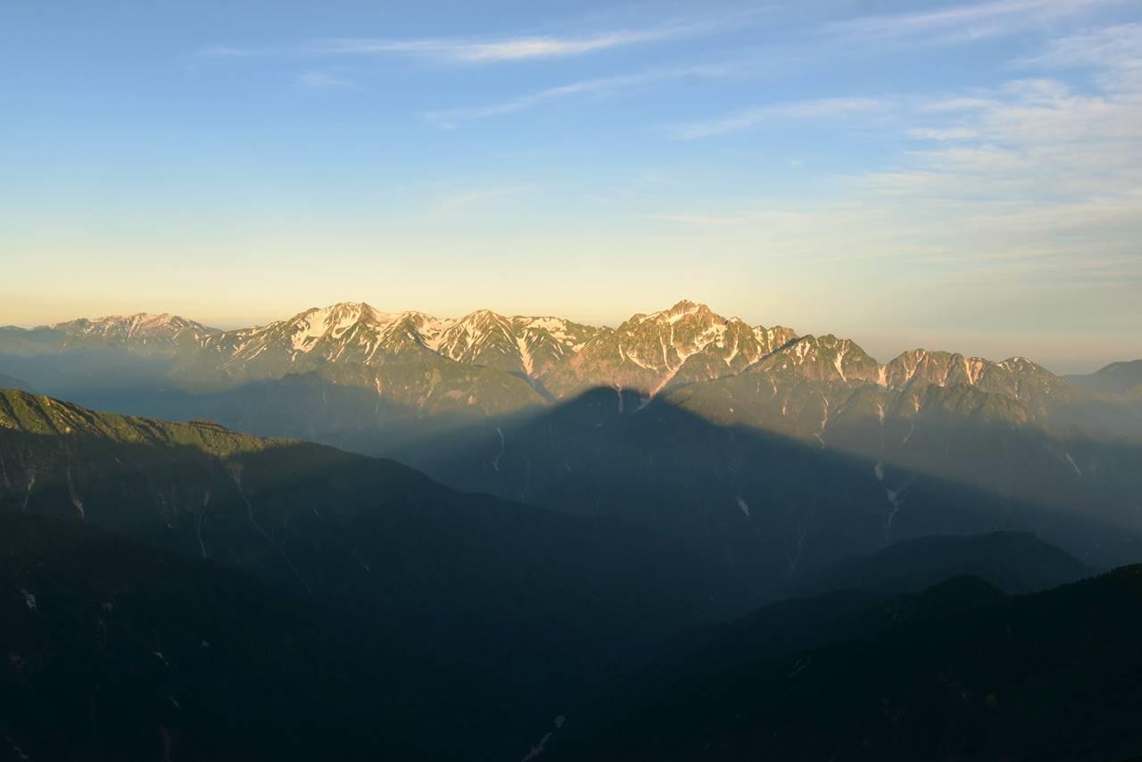 五竜岳から眺める立山~剱岳