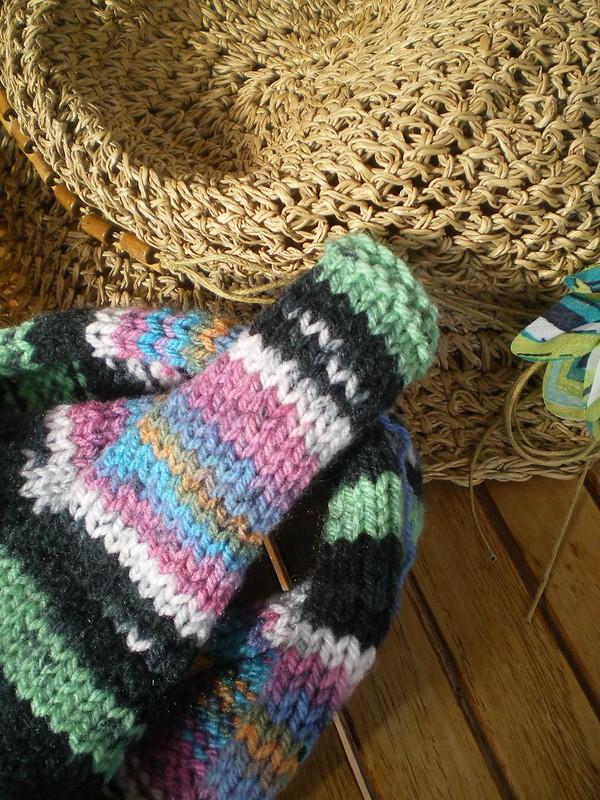 Le plaisir de tricoter