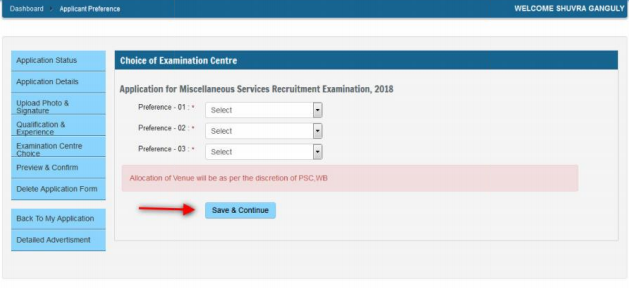 WBPSC SI Application Form 2018
