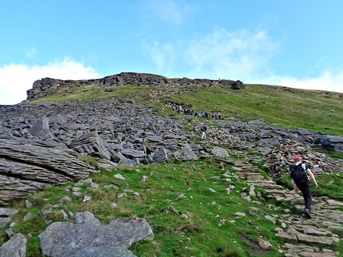 The final section up to the summit of Pen-y-ghent