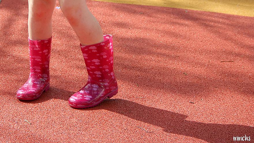 botas de agua de niña