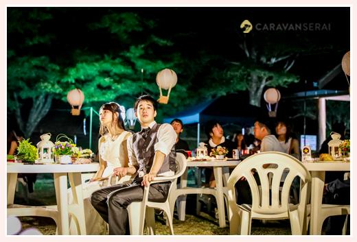 森の中(屋外)で結婚式(披露宴)ブライダル/旭高原元気村(愛知県豊田市)