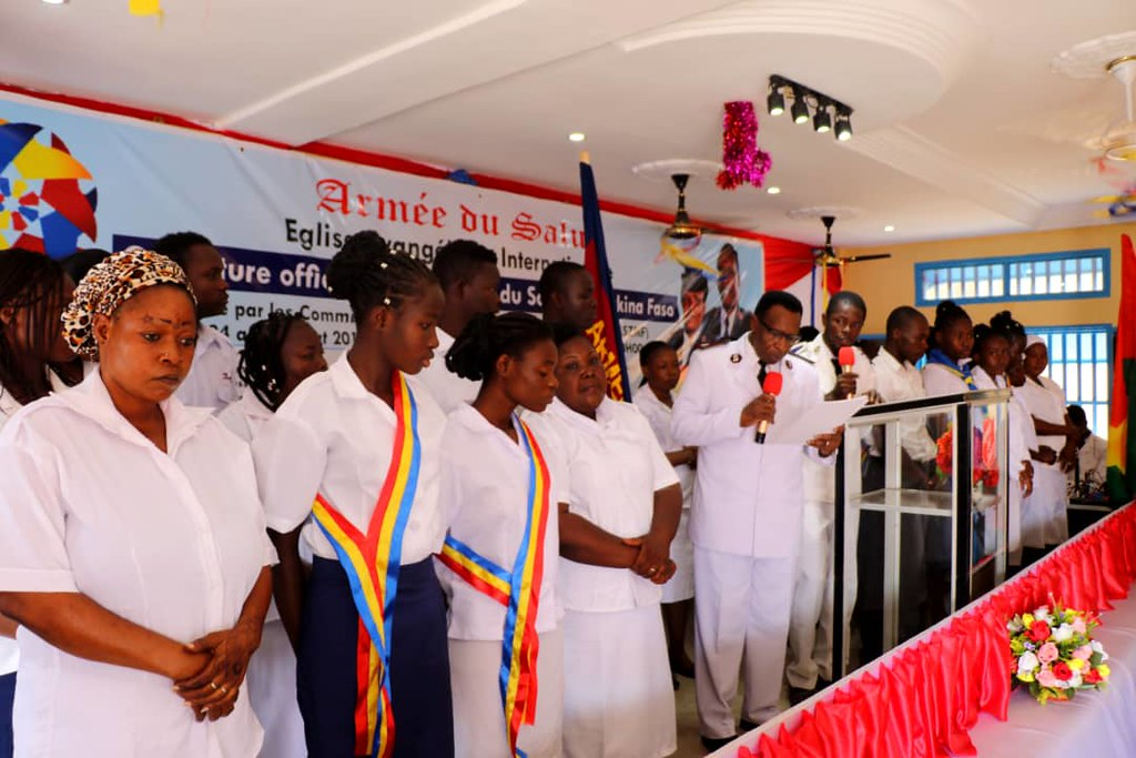 Official opening of Salvation Army in Burkina Faso