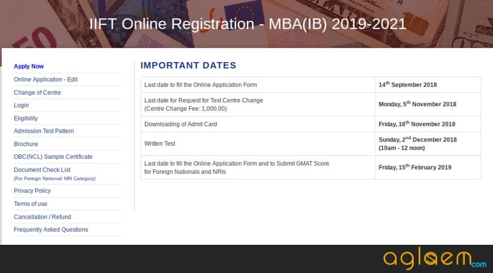 IIFT Registration Last Date