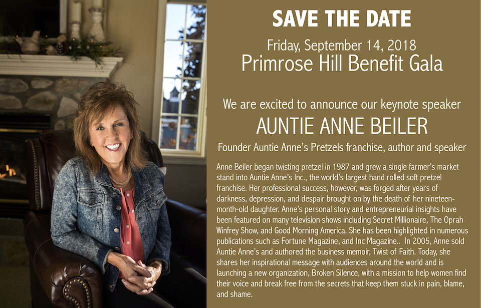 FROM ADVERSITY TO ACHIEVEMENT: Pretzel entrepreneur 'Auntie Anne' featured at CoMo fundraising gala