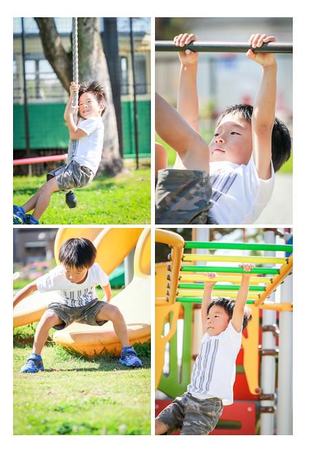 運動神経抜群の5歳の男の子