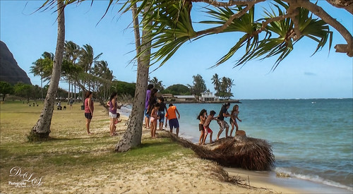 Image of some kids having fun in Oahu, Hawaii