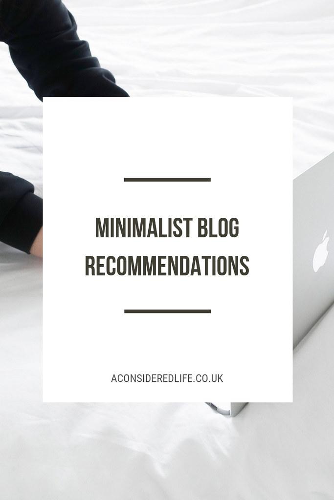 Minimalist Blog Recommendations