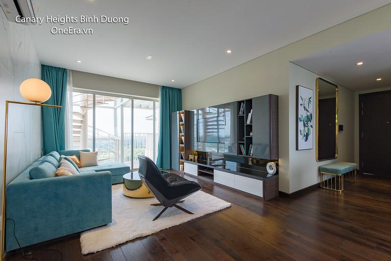 Căn hộ mẫu 3 phòng ngủ, nội thất sang trọng