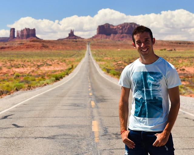 En la famosa carretera de la película de Forrest Gump