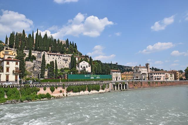 River scene, Verona, Italy