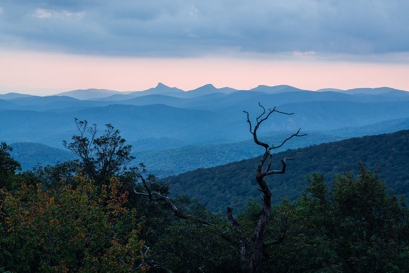 Looking south from the Rough Ridge Viaduct on the Blue Ridge Parkway