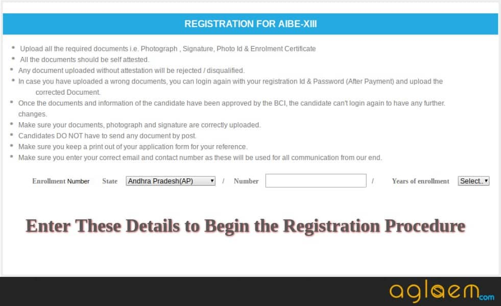 AIBE 2019 Application Form