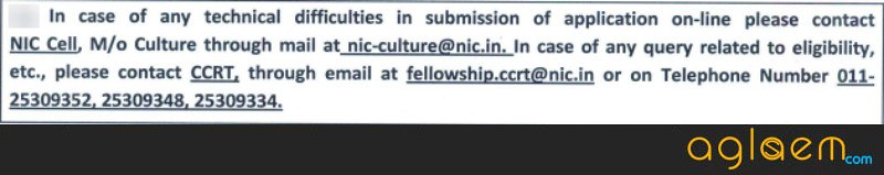 CCRT JR SR Fellowship Recruitment 2018   Application Form, Result
