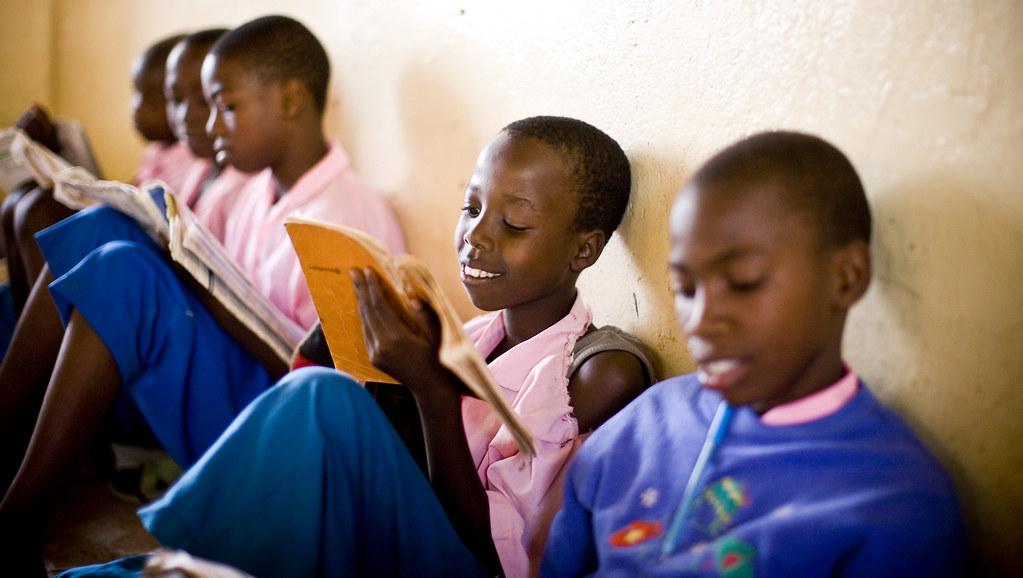 Girls in school in Rwanda.