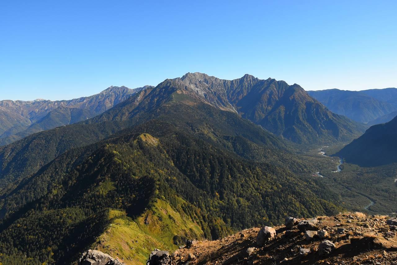 焼岳から眺める穂高岳
