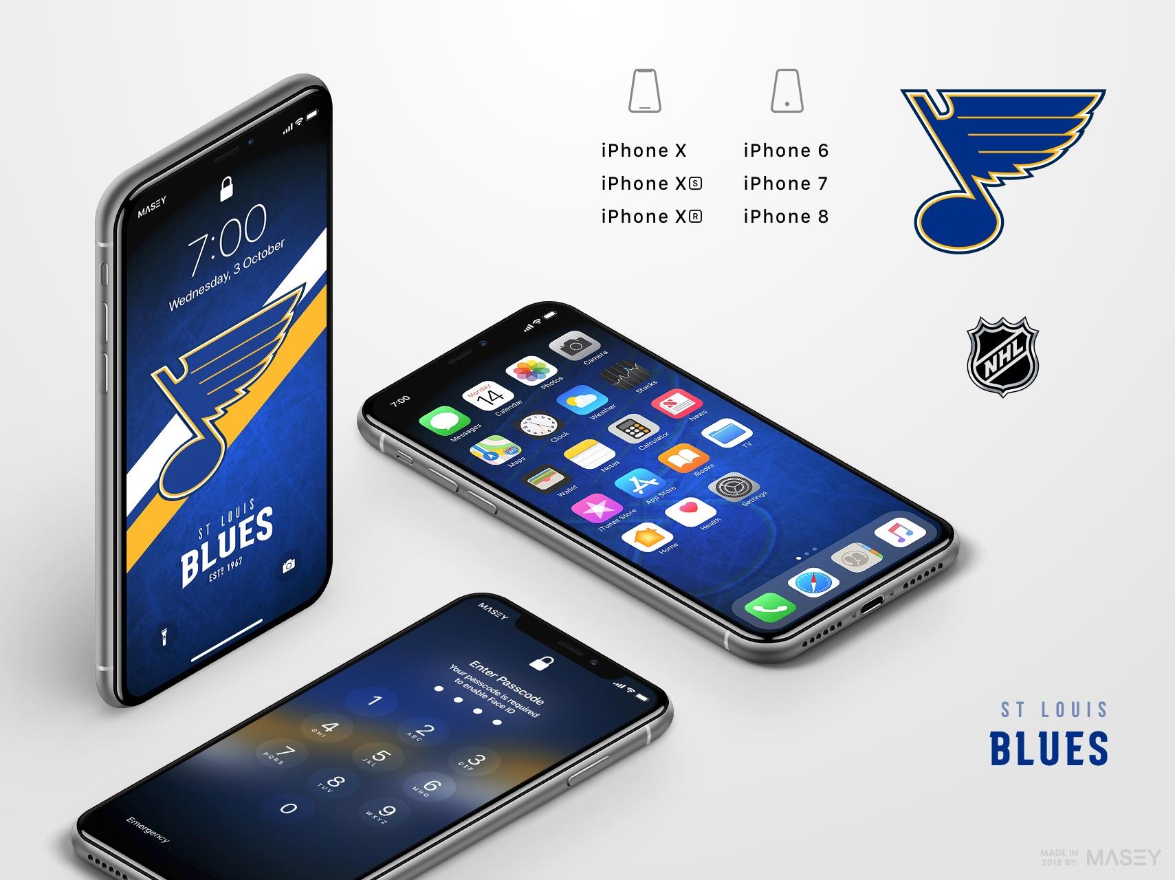 St Louis Blues iPhone Wallpaper
