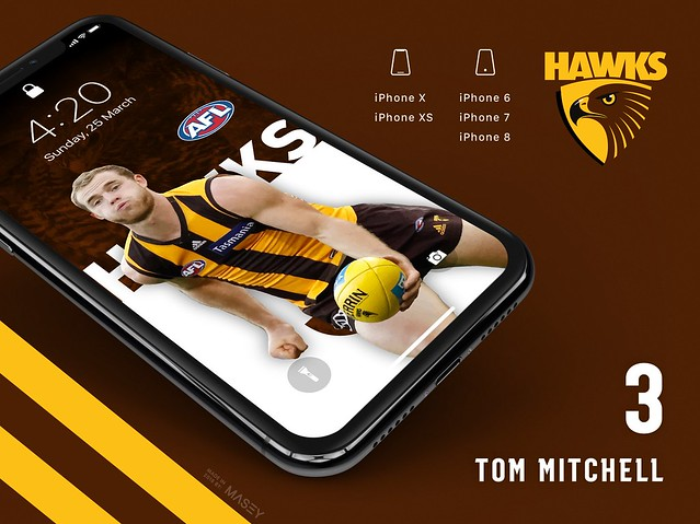 Tom Mitchell (Hawthorn Hawks) iPhone Wallpaper
