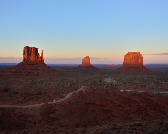 Puesta de sol de Monument Valley
