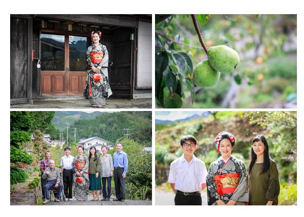 成人式前撮り写真のロケーション撮影 in 岐阜県下呂市/自宅の外