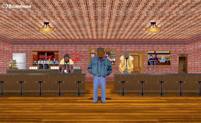Travis Johnson applied at Silverthorn's Café ©J. Boardman