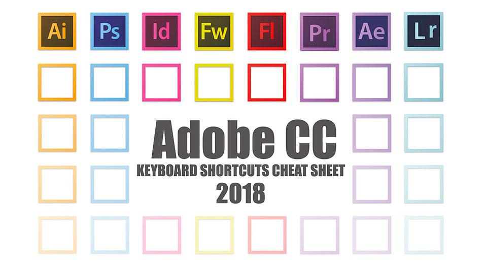 Infografía: Conoce todos los atajos de teclado de los programas de Creative Cloud 2018