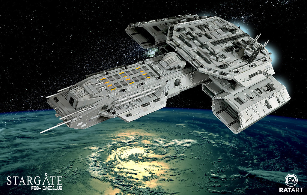 Huge Lego Daedalus From Stargate Who Needs Spaceships
