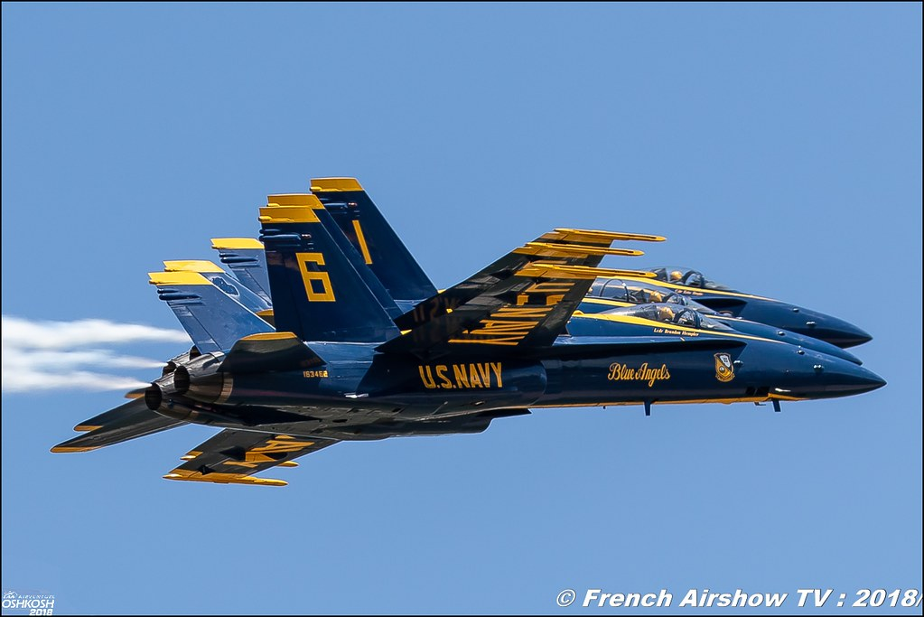 U.S. Navy Blue Angels EAA Oshkosh 2018