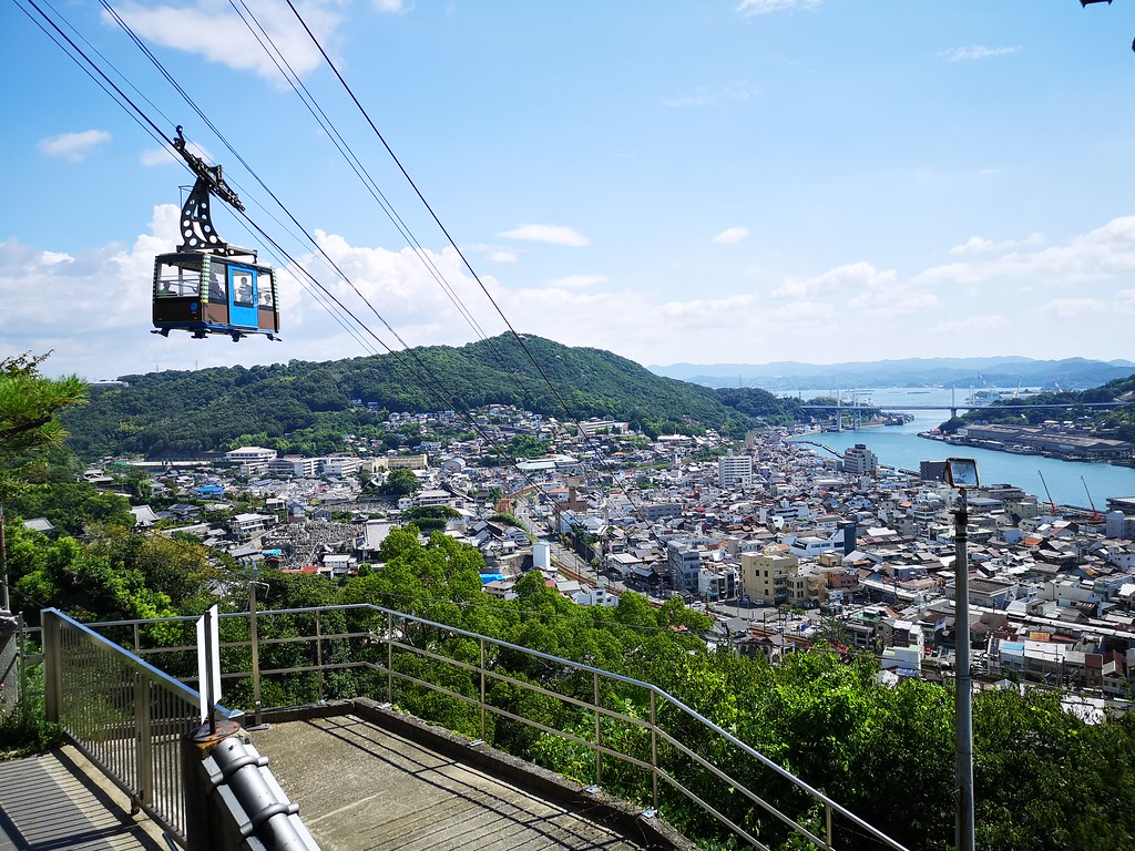 Take the ropeway up Mt Senkoji to start your stroll through Onomichi.