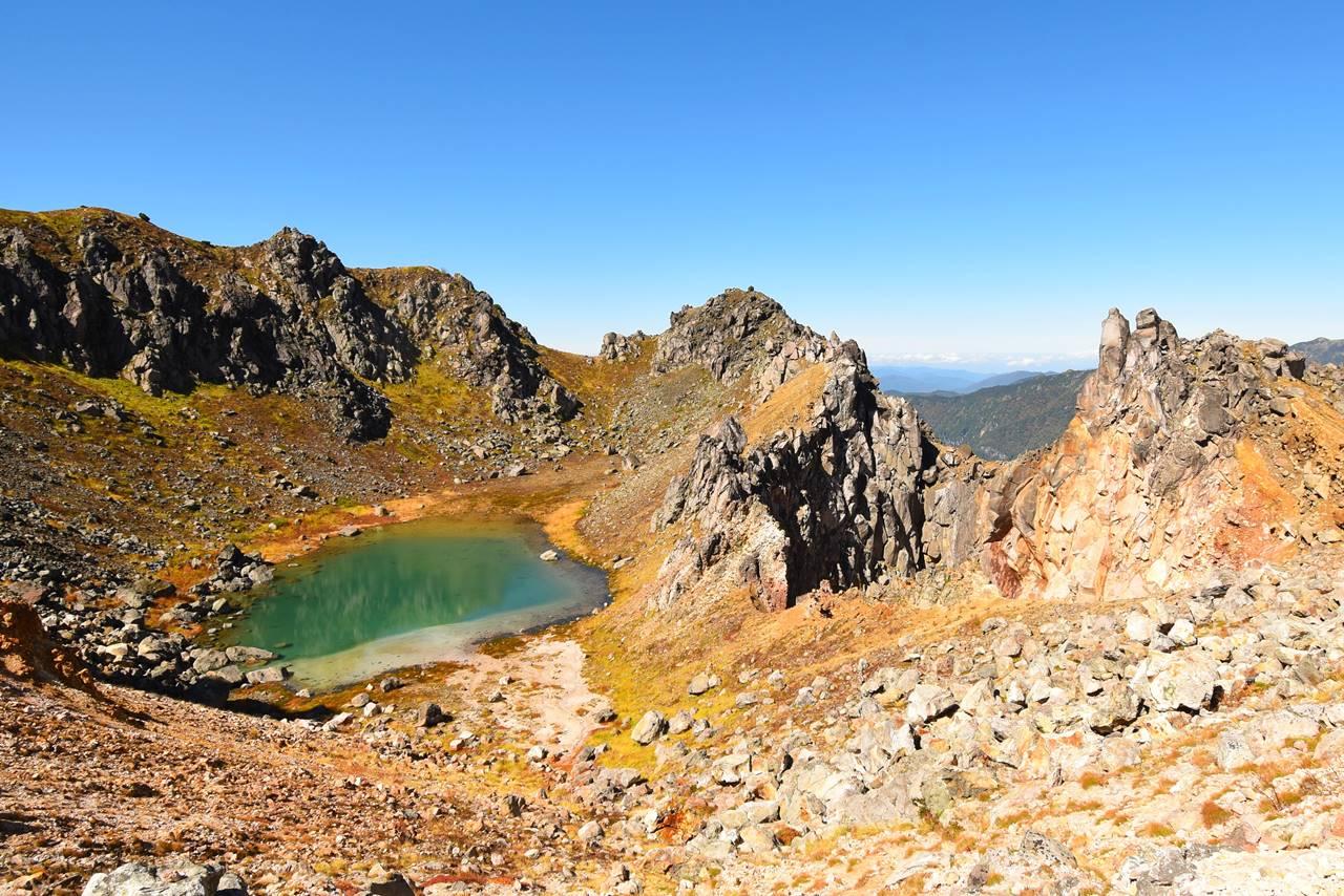 焼岳の火山湖