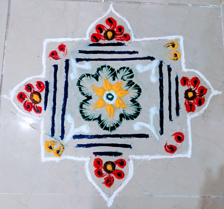 Rangoli competition at AglaSem