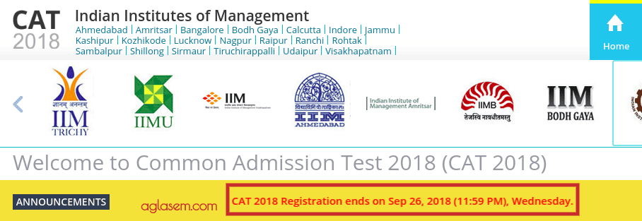 CAT 2018 Registration to End Today at 11:59 PM; Photo Correction Window Opens Tomorrow